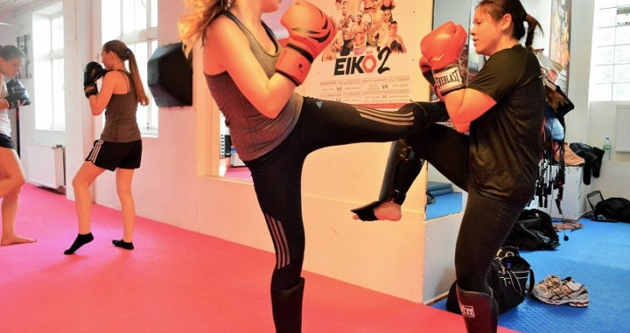 Muay Thai Training Frauen