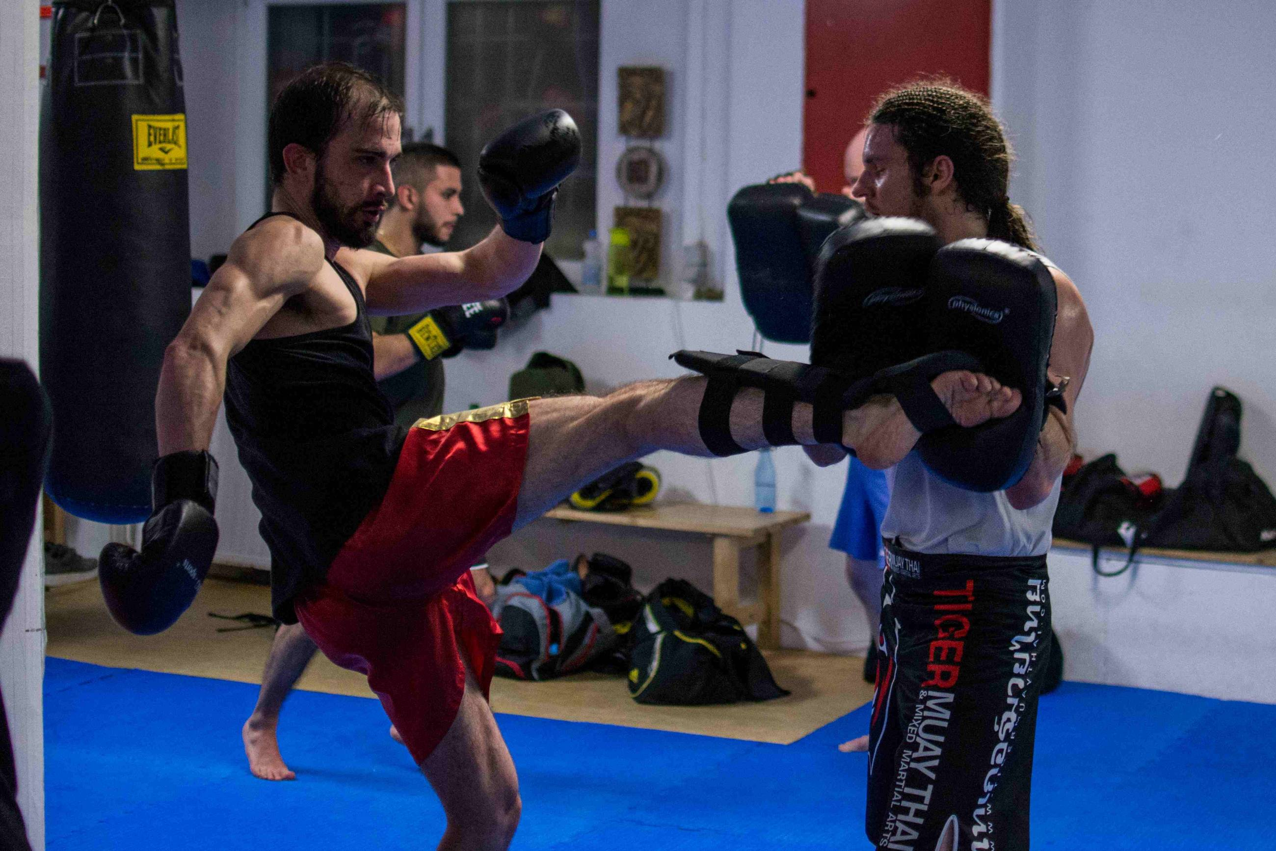 Thaiboxen Training