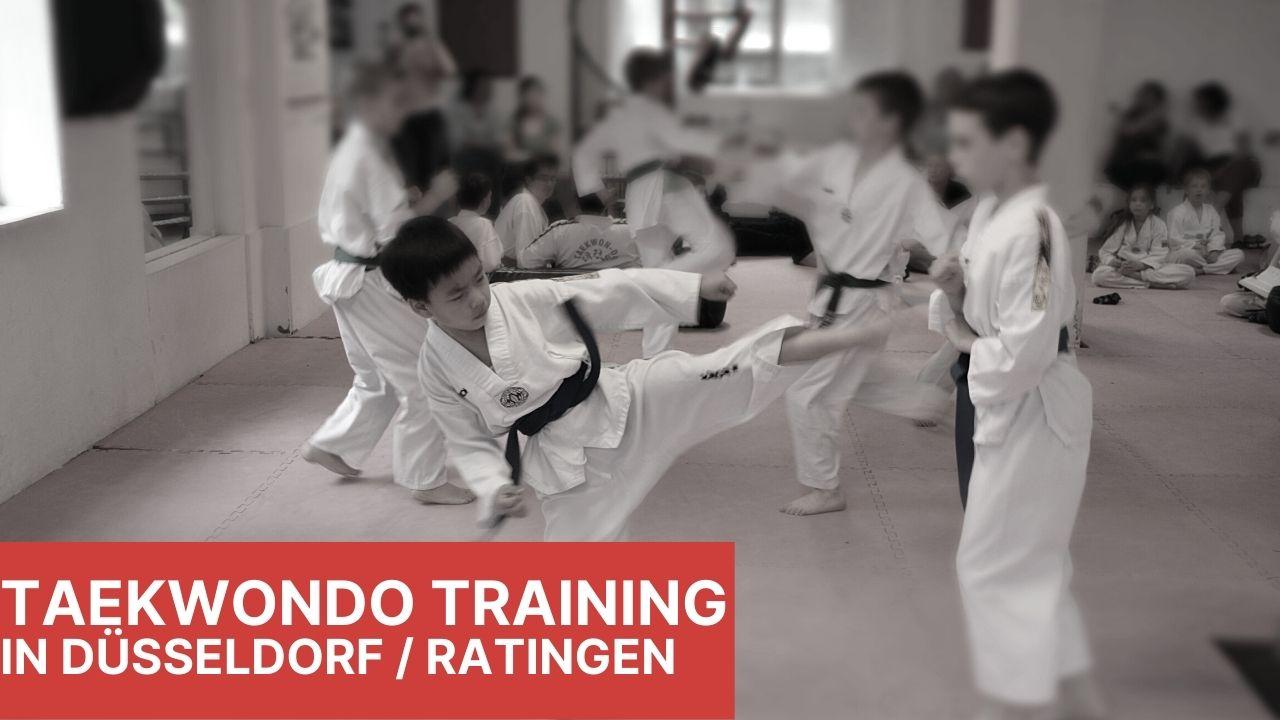 Kinder trainieren Taekwondo in Düsseldorf
